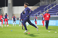 WIENER NEUSTADT, AUSTRIA - NOVEMBER 16: United States men's national team warming up before a game between Panama and USMNT at Stadion Wiener Neustadt on November 16, 2020 in Wiener Neustadt, Austria.
