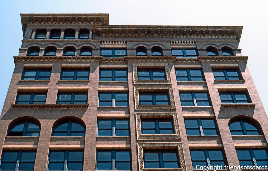 Memphis:  Upper stories, Romanesque Commercial-Office Building.