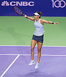 Caroline Wozniacki of Switzerland vs Caroline Garcia of France during the BNP Paribas WTA Finals Singapore presented by SC Global at Singapore Sports Hub on 27 October 2017 in Singapore. Photo by Victor Fraile / Power Sport Images