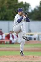 August 20, 2008:  Left-hander Kenneth Durst of the Tri-City Dust Devils toes the rubber during a Northwest League game against the Yakima Bears at Yakima Country Stadium in Yakima, Washington.