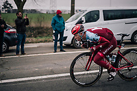 Tony Martin (GER/Katusha-Alpecin) tucked in & full speed ahead down the Nieuwe Kwaremont<br /> <br /> 61th E3 Harelbeke (1.UWT)<br /> Harelbeke - Harelbeke (206km)