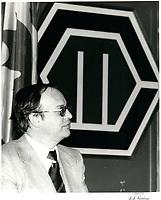 a la tribune de la chambre de commerce de Montreal, le 13 mars 1979<br /> <br /> PHOTO : Agence Quebec Presse