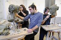 - Milano, Accademia di belle Arti di Brera, laboratorio di scultura<br /> <br /> - Milan, the Brera Academy of Fine Arts, sculpture workshop