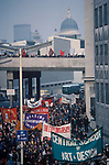 Students march protest against Government cuts in the education budget London England 1970s
