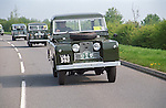 Line up of historic Land Rover vehicles at the Gaydon Heritage Run 1998, to celebrate Land Rovers 50th anniversary. UAA392 is with chassis no. 3 the oldest surviving Series 2 Land Rover, now owned and restored by the Dunsfold Collection. --- No releases available. Automotive trademarks are the property of the trademark holder, authorization may be needed for some uses.