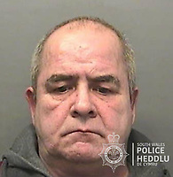 """Pictured: Raphael Clive Gardner<br /> Re: Child abuser Raphael Gardener, who got his young victim pregnant and then blamed her for """"coming on"""" to him, has been jailed for nine years at Swansea Crown Court, Wales, UK.<br /> Gardner, 57, subjected the girl to a series of sex assaults but refused to admit what he had done until three days into his trial."""