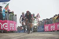 22th May 2021, Cittadella, Padua, Italy; Giro D Italia stage 14, Cittadella to Monte Zoncolan; IneGrenadiers Martinez Poveda, Daniel Felipe at the finish line in Monte Zoncolan