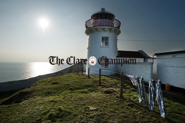 Kilcredaune lighthouse which will cease to operate this Friday. Photograph by John Kelly.