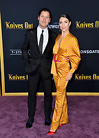 "LOS ANGELES, USA. November 15, 2019: Jenna Johnson & Val Chmerkovskiy at the premiere of ""Knives Out"" at the Regency Village Theatre.<br /> Picture: Paul Smith/Featureflash"