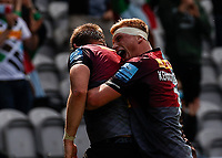 29th May 2021; Twickenham Stoop, London, England; English Premiership Rugby, Harlequins versus Bath; Kenningham of Harlequins thrilled with his captains try