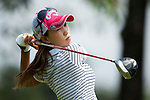CHON BURI, THAILAND - FEBRUARY 18:  Momoko Ueda of Japan tees off on the 3rd hole during day two of the LPGA Thailand at Siam Country Club on February 18, 2011 in Chon Buri, Thailand.  Photo by Victor Fraile / The Power of Sport Images