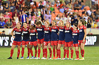 Houston, TX - Sunday Oct. 09, 2016: Washington Spirit  during the National Women's Soccer League (NWSL) Championship match between the Washington Spirit and the Western New York Flash at BBVA Compass Stadium. The Western New York Flash win 3-2 on penalty kicks after playing to a 2-2 tie.
