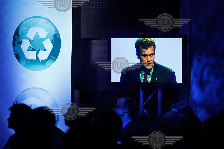 (Oslo 21.10.2010).Helge Lund, CEO Statoil. Talking at OLF The Norwegian Oil Industry Association annual meeting...OLFs årsmøtekonferanse 2010. .Foto:Fredrik Naumann/Felix Features