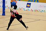 Jillian MacSween, Toronto 2015 - Goalball.<br /> Canada's Women's Goalball team plays against Nicaragua // L'équipe féminine de goalball du Canada joue contre le Nicaragua. 10/08/2015.