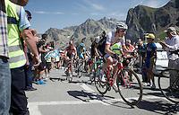 Bauke Mollema (NLD/Trek Factory Racing) over the top of the Col du Tourmalet (HC/2115m/17km/7.3%)<br /> <br /> st11: Pau - Cauterets (188km)<br /> 2015 Tour de France