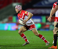 20th November 2020; Totally Wicked Stadium, Saint Helens, Merseyside, England; BetFred Super League Playoff Rugby, Saint Helens Saints v Catalan Dragons; Theo Fages of St Helens runs with the ball