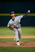 Vermont Lake Monsters relief pitcher Brandon Marsonek (12) delivers a pitch during a game against the Tri-City ValleyCats on June 16, 2018 at Joseph L. Bruno Stadium in Troy, New York.  Vermont defeated Tri-City 6-2.  (Mike Janes/Four Seam Images)