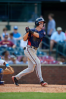 Rome Braves center fielder Drew Waters (11) at bat during a game against the Lexington Legends on May 23, 2018 at Whitaker Bank Ballpark in Lexington, Kentucky.  Rome defeated Lexington 4-1.  (Mike Janes/Four Seam Images)