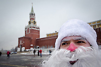 Russia:  Father Frost wishes Merry Christmas