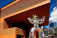 The Fire Bird, a 17-foot-tall statue by French-American artist Niki de Saint Phalle, stands outside the new Bechtler Museum of Modern Art in Charlotte, NC. The 36,500 square-foot museum opened in early 2010 and is said to house of the most important 20th Century European Art Collections found in the Southern United States. The museum was designed by Swiss architect Mario Botta. Photo by Charlotte photographer Patrick Schneider.