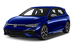 2021 Volkswagen Golf R 5 Door Hatchback Angular Front automotive stock photos of front three quarter view
