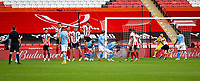 31st October 2020; Bramall Lane, Sheffield, Yorkshire, England; English Premier League Football, Sheffield United versus Manchester City; The ball from a Kevin De Bruyne of Manchester City free kick goes under the wall