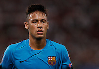 Calcio, Champions League, Gruppo E: Roma vs Barcellona. Roma, stadio Olimpico, 16 settembre 2015.<br /> FC Barcelona's Neymar during a Champions League, Group E football match between Roma and FC Barcelona, at Rome's Olympic stadium, 16 September 2015.<br /> UPDATE IMAGES PRESS/Isabella Bonotto<br /> <br /> *** ITALY AND GERMANY OUT ***
