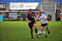 Shannon Boxx pushes the pace. The USA captured the 2010 Algarve Cup title by defeating Germany 3-2, at Estadio Algarve on March 3, 2010.