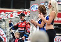 Jul. 31, 2011; Sonoma, CA, USA; NHRA funny car driver Bob Tasca III during the Fram Autolite Nationals at Infineon Raceway. Mandatory Credit: Mark J. Rebilas-