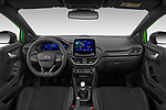 Stock photo of straight dashboard view of 2021 Ford Puma ST 5 Door SUV Dashboard
