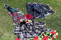 Turkey/Istanbul/3 june,2013. Anti-government demonstrators  sleep in  Taksim Square in Istanbul.Thousands of  Anti-government Turkish protesters  fight with police and they called on Prime Minister Recep Tayyip Erdogan to resign. <br /> Giorgos Moutafis /Felix Features