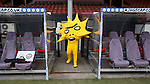 Mascot Kingsley emerging from the tunnel at Firhill