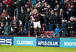 Hearts v St Johnstone…03.02.18…  Tynecastle…  SPFL<br />David Milinkovic celebrates his goal<br />Picture by Graeme Hart. <br />Copyright Perthshire Picture Agency<br />Tel: 01738 623350  Mobile: 07990 594431