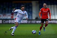 4th May 2021; Kenilworth Road, Luton, Bedfordshire, England; English Football League Championship Football, Luton Town versus Rotherham United; Matt Crooks of Rotherham United takes on Kai Naismith of Luton Town