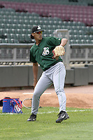 Clinton Lumberkings Omar Poveda during practice before a Midwest League game at Fifth Third Field on July 18, 2006 in Dayton, Ohio.  (Mike Janes/Four Seam Images)