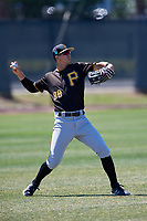 Pittsburgh Pirates Jared Oliva (98) during a Minor League Spring Training game against the Philadelphia Phillies on March 23, 2018 at the Carpenter Complex in Clearwater, Florida.  (Mike Janes/Four Seam Images)