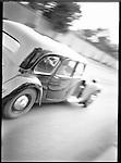 A Doushenberg speeds by during an antique car rally in Prague, Czech Republic.