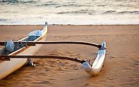 Outrigger canoe detail, Wailea Beach, Maui