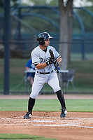 AZL White Sox shortstop Camilo Quintero (1) shows bunt during an Arizona League game against the AZL Dodgers at Camelback Ranch on July 7, 2018 in Glendale, Arizona. The AZL Dodgers defeated the AZL White Sox by a score of 10-5. (Zachary Lucy/Four Seam Images)