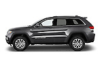 Car driver side profile view of a 2015 Jeep Grand Cherokee Laredo 5 Door SUV