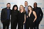 "Al Blackstone, Jenn Rose, Kitty McNammee, Jerry Mitchell, Katie Spelman and Raja Kelly during The ""Mr. Abbott"" Award 2019 at The Metropolitan Club on 3/25/2019 in New York City."