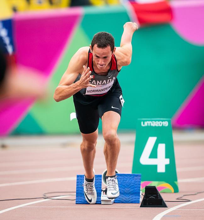 Thomas Normandeau, Lima 2019 - Para Athletics // Para-athlétisme.<br /> Thomas Normandeau competes in the men's 400m T47. // Thomas Normandeau participe au 400 m T47 masculin. 25/08/2019.