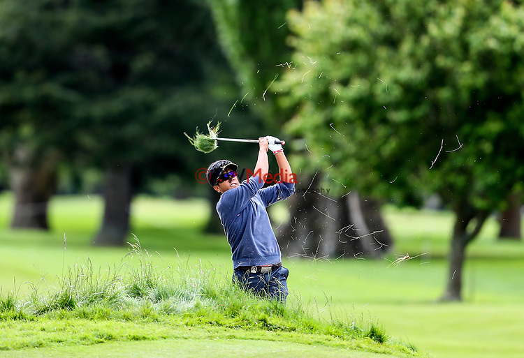Kammalas Namuangruk of Thailand during the Asia Pacific Amateur Golf Championship Round Two, Royal Wellington Golf Course, Wellington, New Zealand, 27 October2017.  Photo: Simon Watts/www.bwmedia.co.nz
