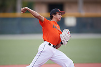 Sebastian Jones (63), from Mount Pleasant, Michigan, while playing for the Orioles during the Baseball Factory Pirate City Christmas Camp & Tournament on December 29, 2017 at Pirate City in Bradenton, Florida.  (Mike Janes/Four Seam Images)