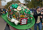 Oct. 13, 2012; An Irish fan shows off his souvenir pin hat...Photo by Matt Cashore