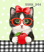 Kayomi, CUTE ANIMALS, LUSTIGE TIERE, ANIMALITOS DIVERTIDOS, paintings+++++TuxieWithApple,USKH264,#ac# cats,kittens ,everyday
