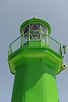 The lighthouse at the Split, Croatia harbor.