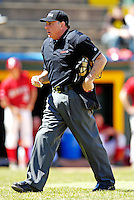 21 April 2007: America East Umpire Nick Zibelli officiates at a game between the University of Vermont Catamounts and the University of Hartford Hawks at Historic Centennial Field, in Burlington, Vermont...Mandatory Photo Credit: Ed Wolfstein Photo