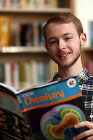 Pictured: A Physics student. Monday 22 September 2014<br /> Re: Cardiff and Vale College.