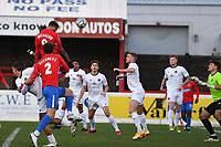 Paul McCallum of Dagenham and Redbridge FC scores the first Goal and celebrates during Dagenham & Redbridge vs Ebbsfleet United, Buildbase FA Trophy Football at the Chigwell Construction Stadium on 19th December 2020